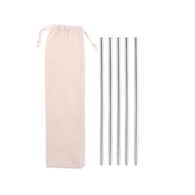 My Little Eco Straw Pouch! 5 Stainless Steel Drinking Straws with Carry Pouch (4413675077699)