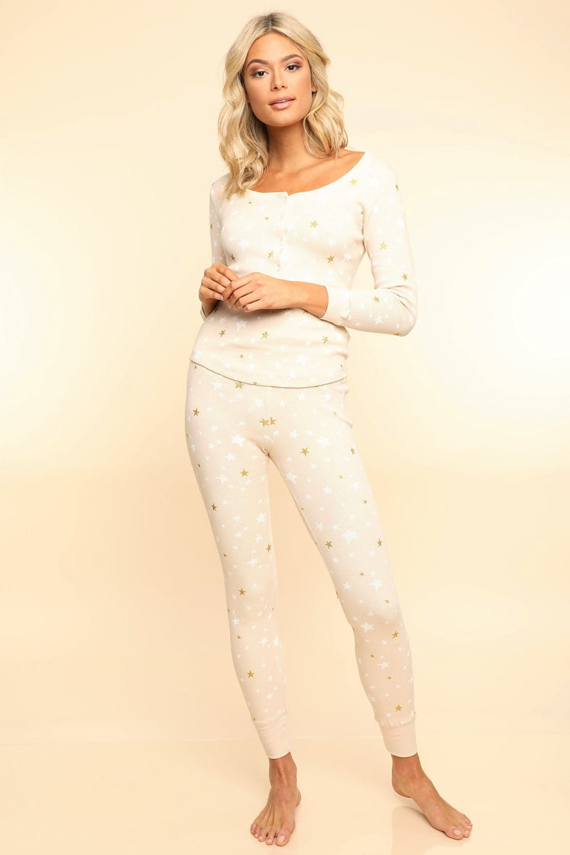 Star Print PJ Set