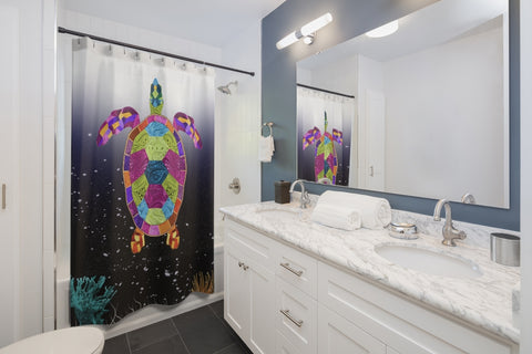 Turtle Underwater Shower Curtains
