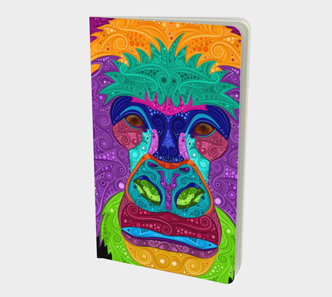 Colorful Gorilla Small Notebook