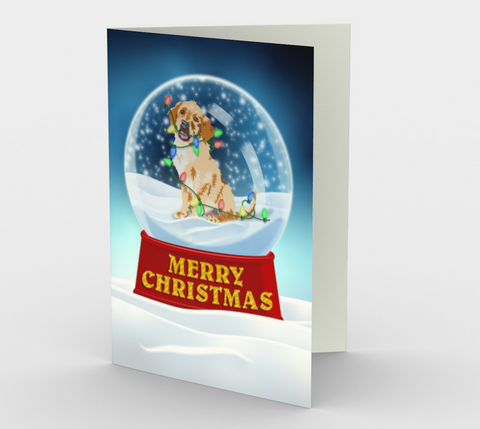 Puppy Christmas Globe Card