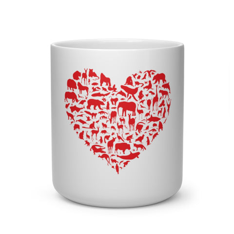 Animal Love Heart Shape Mug