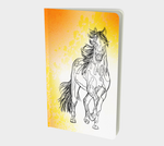 Line Art Horse Small Notebook