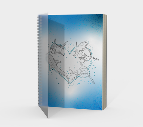 Shark Love Spiral Notebook