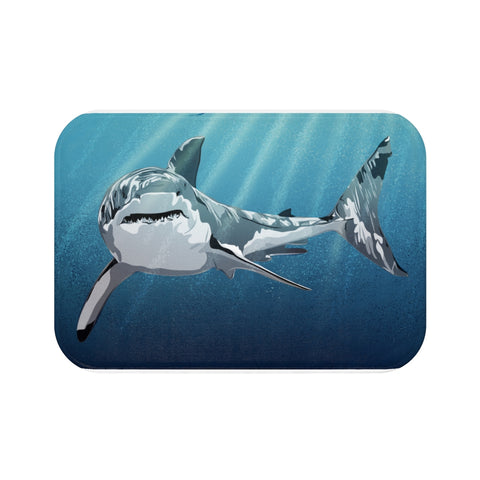 White Shark Bath Mat