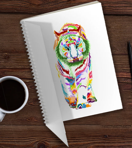 Tiger Design Spiral Book