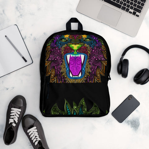 Colorful Lion Backpack