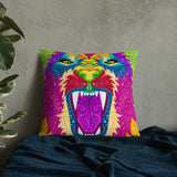 Colorful Lion Premium Pillow