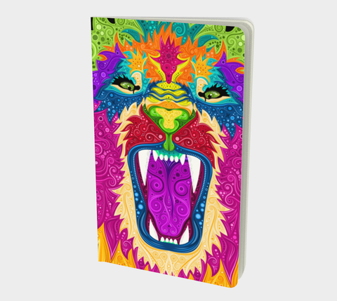 Colorful Lion Small Notebook