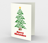 Animal Christmas Tree Card