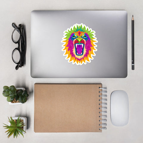 Colorful Lion Stickers