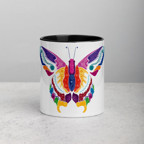 Butterfly Mug with Color Inside