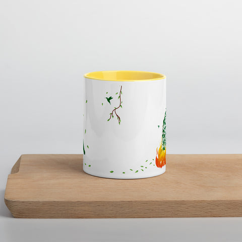 The Burning Amazon Mug with Color Inside