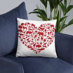 I Heart Wildlife Basic Pillow