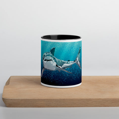 White Shark Mug with color inside