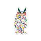 Colorful Owl Stickers
