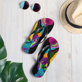 Colorful Rhino Flip-Flops