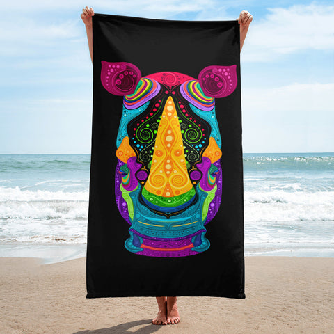 Colorful Rhino Towel