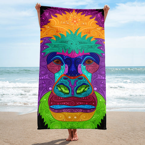 Colorful Gorilla Towel