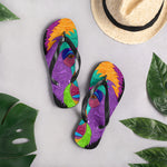 Colorful Gorilla Flip-Flops