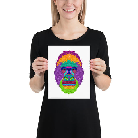 Gorilla Photo paper poster