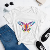 Colorful Butterfly Women's short sleeve t-shirt