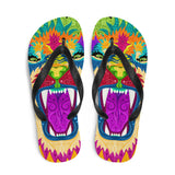 Colorful Lion Flip-Flops