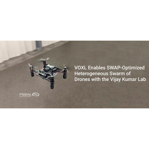 VOXL Enables SWAP-optimized heterogenous swarm of drones with the Vijay Kumar Lab