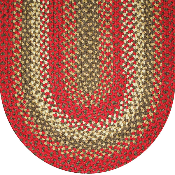 813 Christmas Red Basket Weave