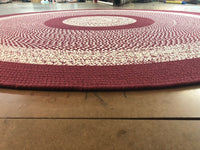 Braided Rug Brick Red 112 Classic