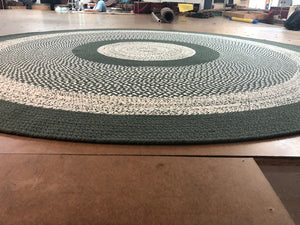 Braided Rug Sage Green 127 Classic