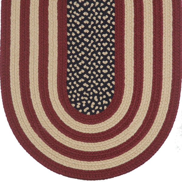 Braided Rug Colonial Antique American Flag Rug