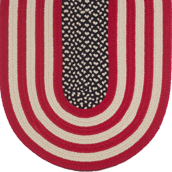 Braided Rug Colonial Original American Flag Rug