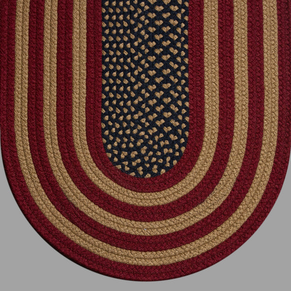 Braided Rug Colonial Rustic American Flag Rug