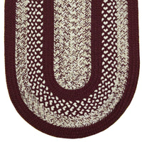 Braided Rug Burgundy 136 Classic