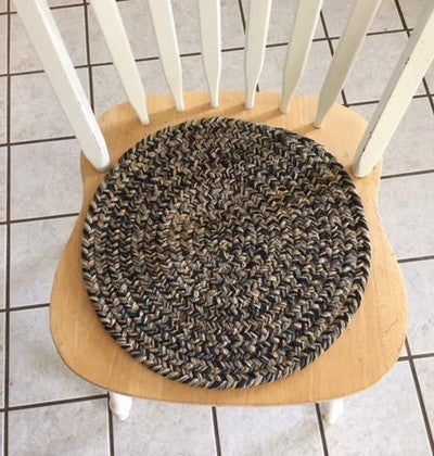 "15"" Braided Chair Pad without Ties"
