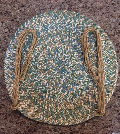 "15"" Braided Chair Pads with Ties"