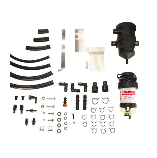 Landcruiser 70 Series PreLine Plus Pre-Filter Kit and Pro Vent Catch Can Combo - Fuel Screening Australia