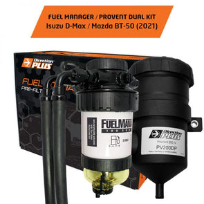 Isuzu Dmax 2020 - On Fuel Manager Pre-Filter Kit and Pro Vent Catch Can Combo