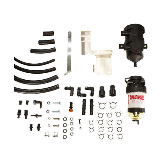 Ford Everest PreLine Plus Pre-Filter Kit and Pro Vent Catch Can Combo - Fuel Screening Australia