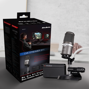 Avermedia Streamer Pack, easy to use all in one with usb microphone, full hd capture game card,  and webcamera for streaming and recording