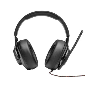 JBL Quantum 300 | Hybrid wired over-ear gaming headset with flip-up mic