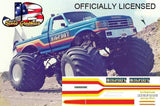 Legendary Racer Stripe BIGFOOT Decal Package