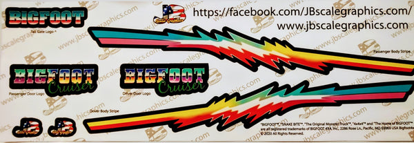 Cruiser BIGFOOT® 4X4, INC Decal Set.