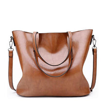 Load image into Gallery viewer, Large Capacity Leather Tote Bag - onekfashion