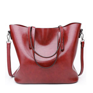 Large Capacity Leather Tote Bag - onekfashion