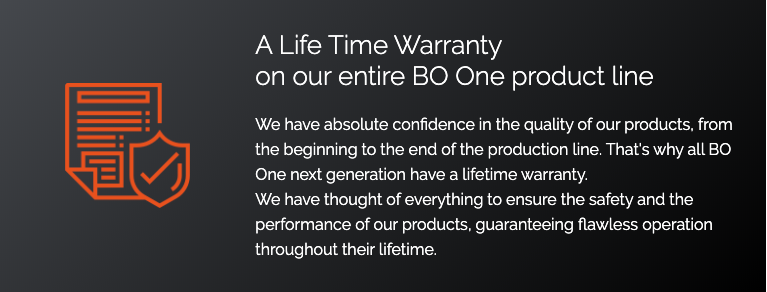 Bo One Lifetime Warranty for New Zealand