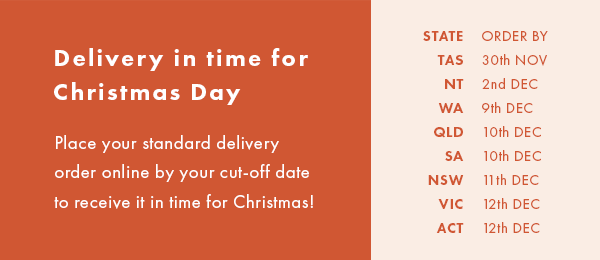 Christmas Delivery Cut-Off Dates