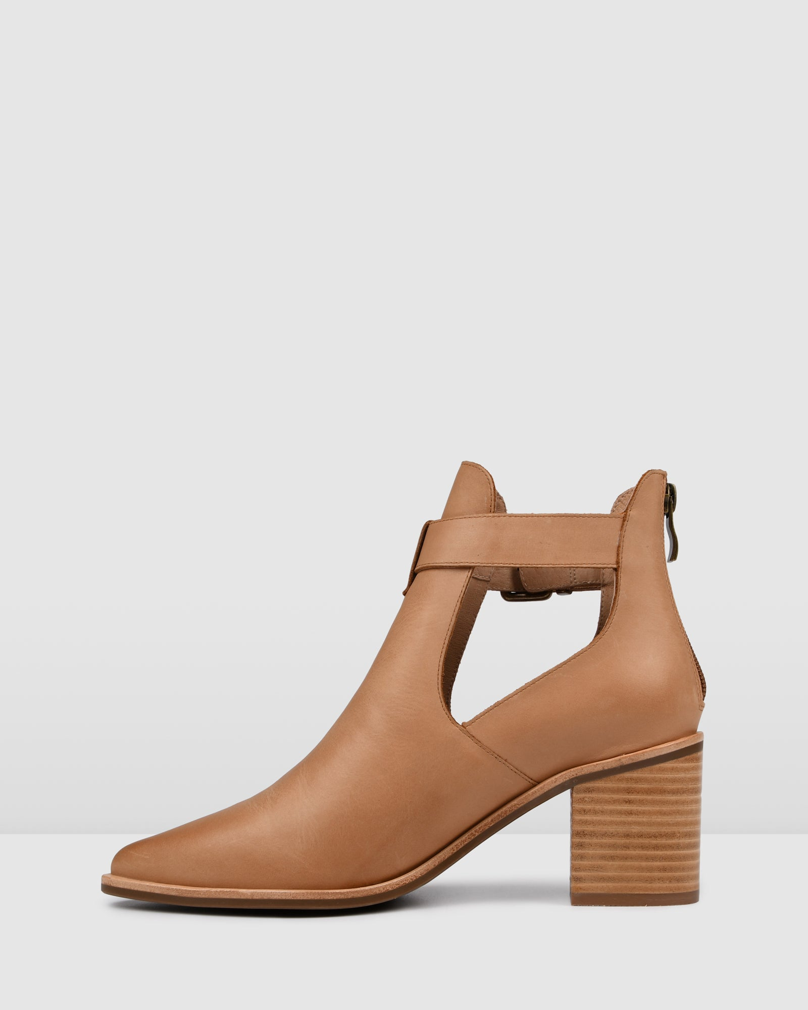 ABBY MID ANKLE BOOTS CHOCOLATE LEATHER