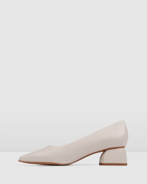 ABSTRACT LOW HEELS BONE LEATHER